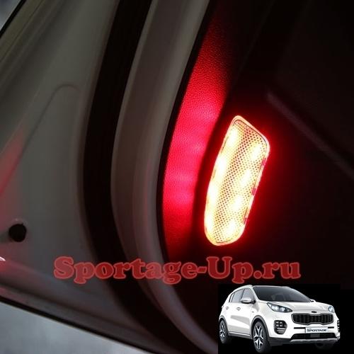 LED-модули в отражатели передних дверей Sportage4 QL, exLED, комплект 2шт.